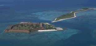 Fort Jefferson on Garden Key and Bush Key